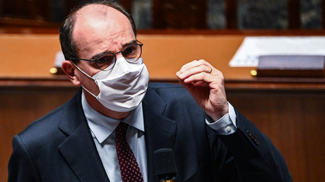Le Premier ministre Jean Castex le 24 novembre à l'Assemblée nationale.