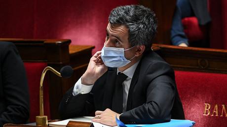 Le ministre de l'Intérieur, Gérald Darmanin, assiste le 24 novembre 2020 à une session à l'Assemblée nationale française à Paris pour voter sur le projet de loi Sécurité globale (image d'illustration).