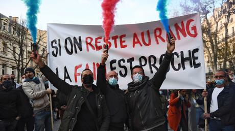 Manifestation des restaurateurs à Marseille, le 26 novembre 2020.