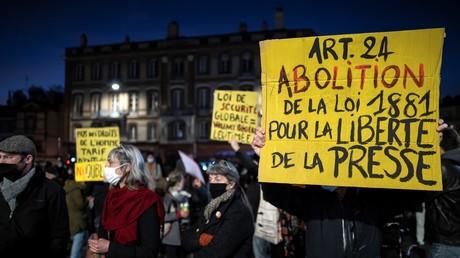 Manifestation contre la loi Sécurité globale le 17 novembre à Toulouse (Haute-Garonne) (image d'illustration).
