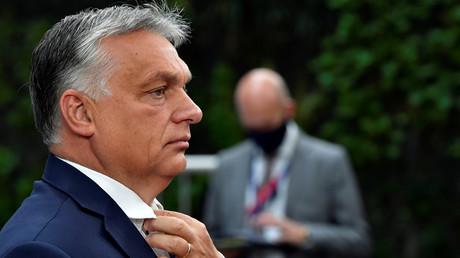 Le Premier ministre hongrois Viktor Orban lors d'un sommet de l'Union européenne à Bruxelles, le 19 juillet 2020 (image d'illustration).