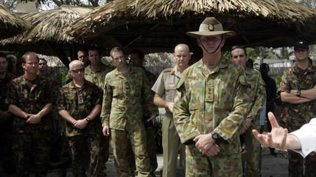 Des soldats de l'armée australienne lors d'une visite du ministre des Affaires étrangères Kevin Rudd au Timor oriental, le 10 juillet 2011 (image d'illustration)