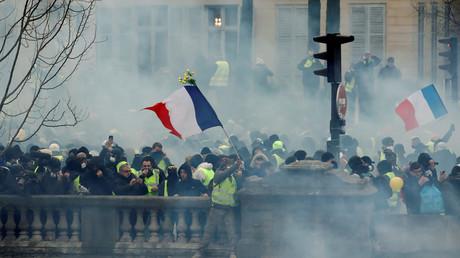 Des Gilets jaunes à Paris, lors de la manifestation du 5 janvier 2019 (image d'illustration)