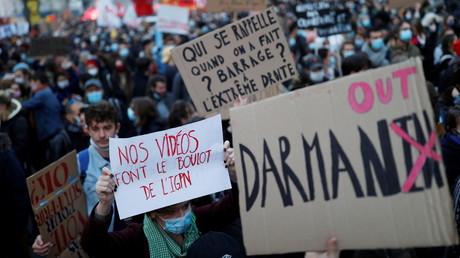 Manifestation contre la loi Sécurité globale le 28 novembre à Paris (image d'illustration).
