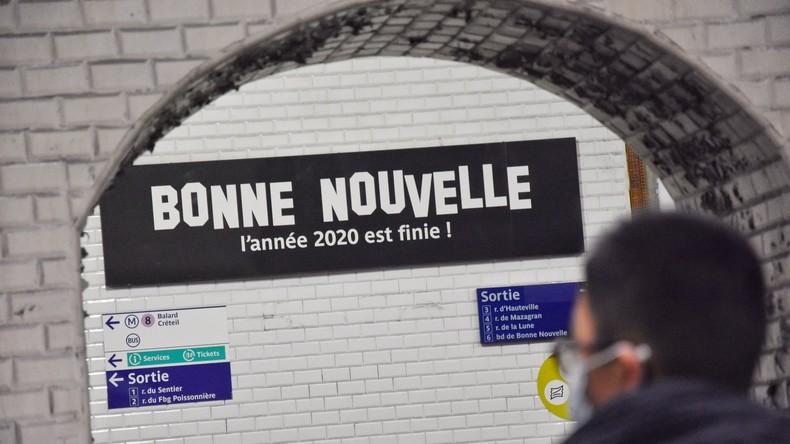 «Bonne Nouvelle, l'année 2020 est finie !» : le clin d'œil de la RATP aux usagers du métro parisien