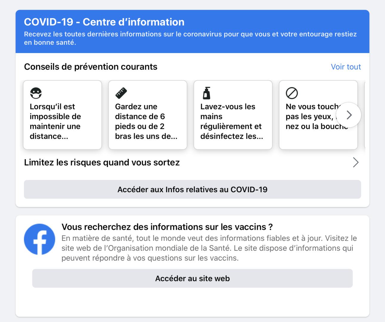 Facebook va supprimer les «fausses allégations» concernant les vaccins contre le Covid-19