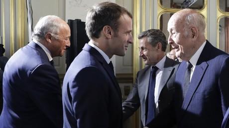 Valery Giscard d'Estaing et Emmanuel Macron le 4 octobre 2018 à Paris (image d'illustration).