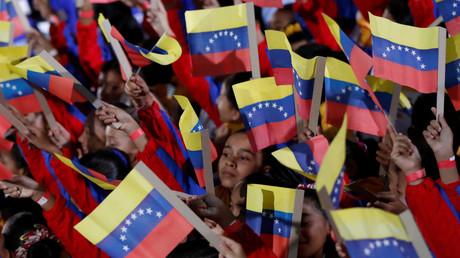 Des enfants lors de la prestation de serment de Nicolas Maduro à la Cour suprême de Caracas, Venezuela, le 10 janvier 2019.  (image d'illustration)