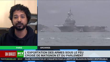Capture d'écran RT France