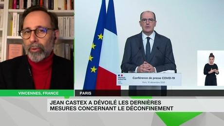 Alexis Poulin, sur RT France le 10 décembre.