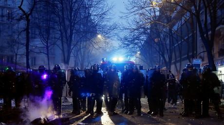 Policiers lors de la manifestation contre la loi Sécurité globale du 5 décembre 2020 (image d'illustration).