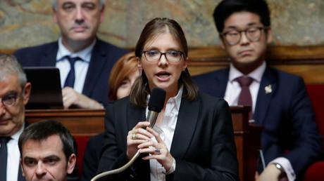 Aurore Bergé à l'Assemblée nationale le 23 octobre 2018