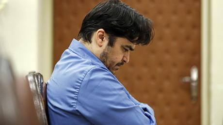 Rouhollah Zam lors de son procès à Téhéran en juin 2020.