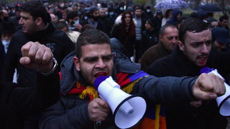 Manifestation à Erevan le 14 décembre.