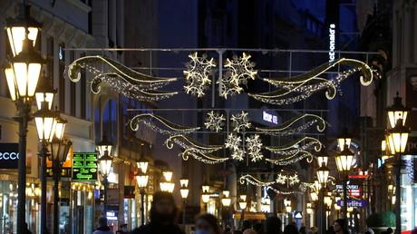 Illuminations de Noël à Budapest le 12 décembre 2020 (image d'illustration).