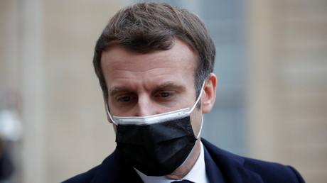 Le président français Emmanuel Macron à l'Elysée à Paris,le 16 décembre 2020.