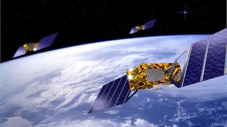 Image d'illustration mettant en scène des satellites en orbite terrestre.