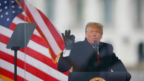 Le président Donald Trump devant ses partisans le 6 janvier 2021