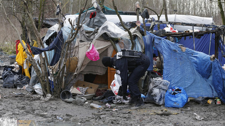 A Grande-Synthe (Nord), près de Dunkerque, la situation humanitaire était déjà critique en 2016 (image d'illustration).