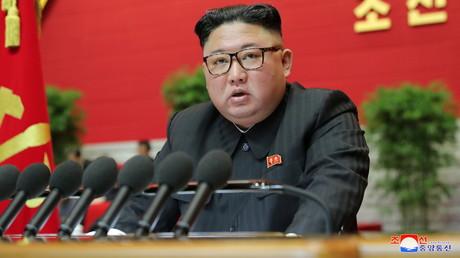 Kim Jong-un sur un cliché rendu public le 9 janvier 2021 par l'agence KCNA.