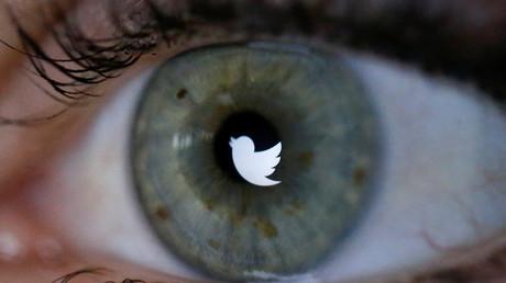 Le reflet du logo de Twitter dans l'œil d'une utilisatrice (image d'illustration).
