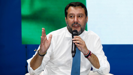 Matteo Salvini le 2 octobre 2020 à Catane (Italie) (image d'illustration).
