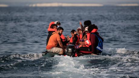 Une embarcation transportant des migrants sur la Manche le 11 septembre 2020. (Image d'illustration)