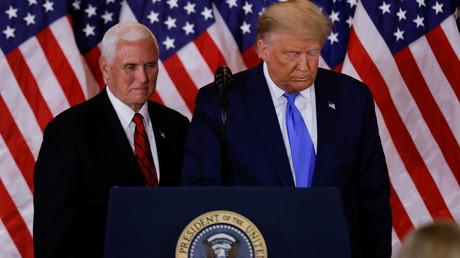 Donald Trump et Mike Pence le 4 novembre 2020 à Washington (image d'illustration).