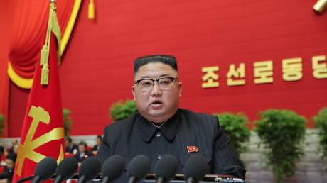 Kim Jong-un au 8e congrès du Parti des travailleurs à Pyongyang le 12 janvier.