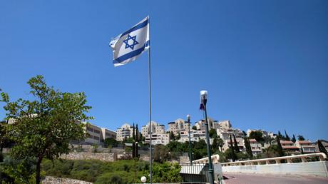 Le drapeau israélien flotte en août 2020 sur la colonie israélienne de Maale Adumim en Cisjordanie (image d'illustration).