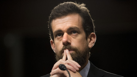 Le PDG de Twitter Jack Dorsey auditionné par le Sénat, au Capitole de Washington, le 5 septembre 2018 (image d'illustration).