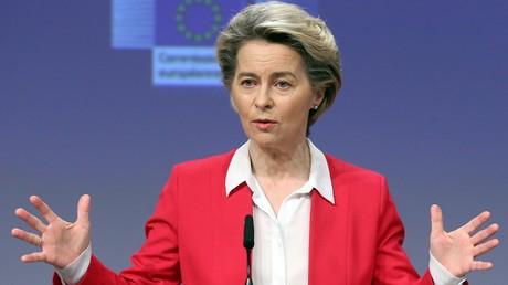La présidente de la Commission européenne, Ursula von der Leyen, le 8 janvier 2021.