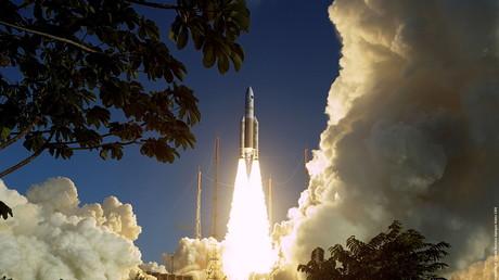Ariane 5 au décollage en 2005 (image d'illustration).