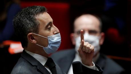 Gérald Darmanin dans l'hémicycle de l'Assemblée nationale, le 1erdécembre 2020 à Paris (image d'illustration).