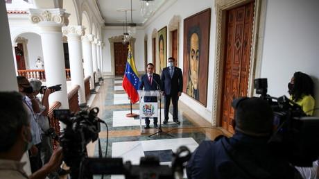 Le ministre vénézuélien des Affaires étrangères, Jorge Arreaza, à Caracas, Venezuela, le 16 janvier 2021.