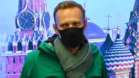 Alexeï Navalny à l'aéroport Sheremetyevo de Moscou le 17 janvier 2021 (image d'illustration).