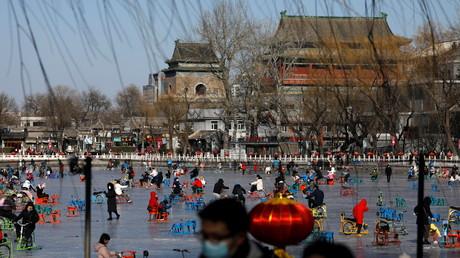 Cliché pris à Pékin le 16 janvier 2021.