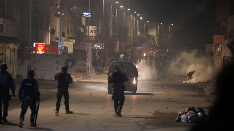 Nouveau soir d'émeutes à Tunis le 18 janvier.