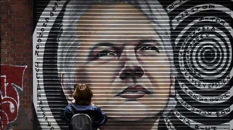 Une peinture du visage de Julian Assange à Melbourne le 5 janvier 2021 (image d'illustration).