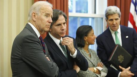 Joe Biden et Antony Blinken le 1er novembre 2013 à la Maison Blanche (image d'illustration).