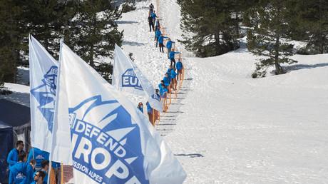 Des militants de Génération identitaire dans les Alpes le 21 avril 2018
