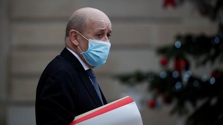 Le ministre français des Affaires étrangères, Jean-Yves Le Drian, le 6 janvier au palais de l'Elysée.