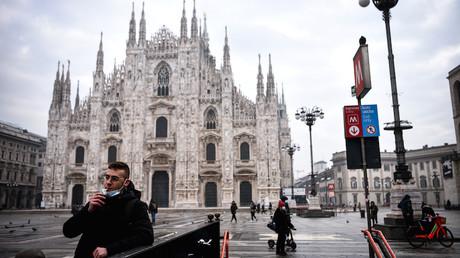 Place du Dôme (Piazza del Duomo) à Milan le 19 janvier 2021 (image d'illustration).
