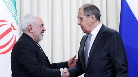 Sergueï Lavrov et Mohammad Javad Zarif en 2019 (image d'illustration).