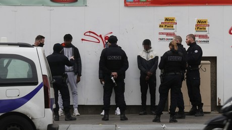 Cliché pris à Paris le 2 avril 2020 (image d'illustration).