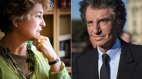 Catherine Dolto à Paris, le 7 juin 2008 / Jack Lang à Paris, le 1er octobre 2018