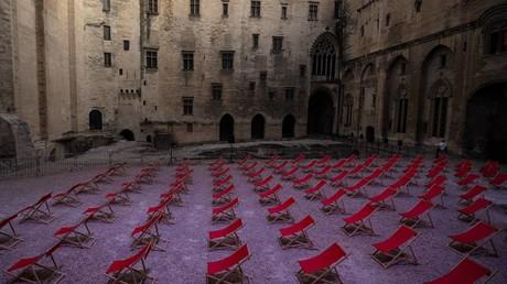 Cour d'honneur du Palais des papes à Avignon en juillet 2020 (image d'illustration).