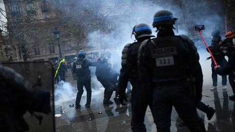 La fin de manifestation était tendue à Paris, le 30 janvier (image d'illustration).