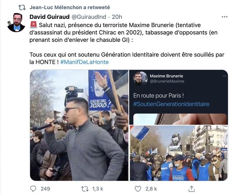 Fact-checking: un «salut nazi» a-t-il vraiment été vu à la manifestation de Génération identitaire ?
