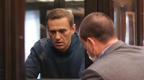 Alexeï Navalny devant un tribunal de Moscou le 2 février 2021.